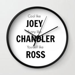 Friends - Joey, Chandler, Ross Wall Clock