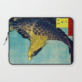 Hiroshige, Hawk Flight Over Field Laptop Sleeve