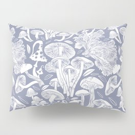 Delicious Autumn botanical poison IV // blue grey background Pillow Sham