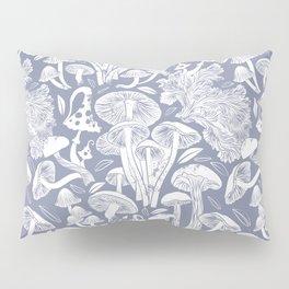 Delicious Autumn botanical poison IV // blue grey background Pillow Sham