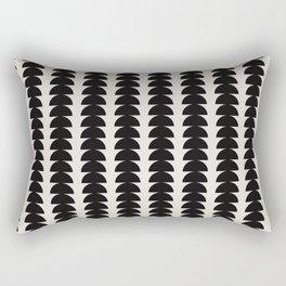 Maude Pattern - Black Rectangular Pillow