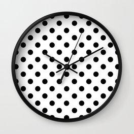 Polka Dots (Black & White Pattern) Wall Clock