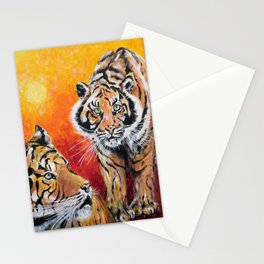 Three Lucky Tigers Stationery Cards