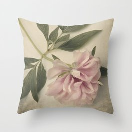 Scents of Spring - Pink Peony ii Throw Pillow