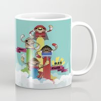 street fighter Mugs featuring Street Fighter 25th Anniversary!!! by Ed Warner