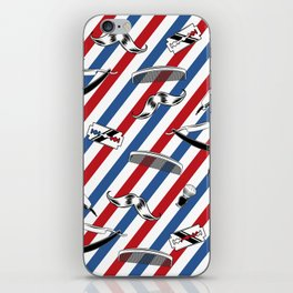Barber Shop Pattern iPhone Skin