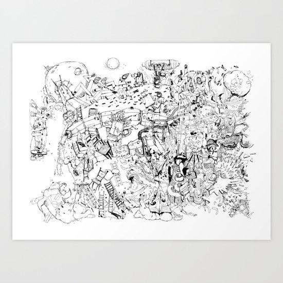Fragments of dream Art Print