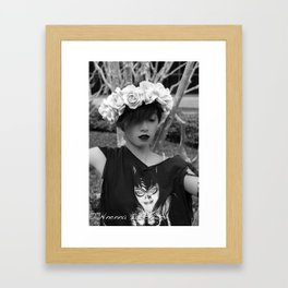 Nu goth fairy2 Framed Art Print