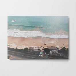 Aerial Mirissa Beach, Sri Lanka 3 Metal Print