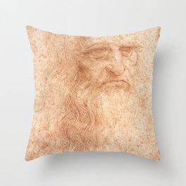 Classic Art - Leonardo da Vinci by Leonardo da Vinci Throw Pillow