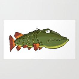 Depressed fish Art Print
