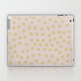 Self-love dots - Beige and green Laptop & iPad Skin