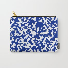 White and Blue Abstract Art Carry-All Pouch
