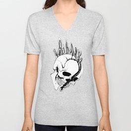 Skull (Spill) Unisex V-Neck