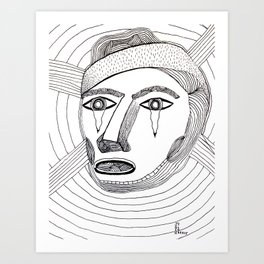 Crying Face Art Print
