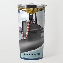 USS Key West - Pearl Harbor Submarine Service (Gold Dolphins) Travel Mug