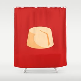 MADE IN MOROCCO #04-THE HAT Shower Curtain