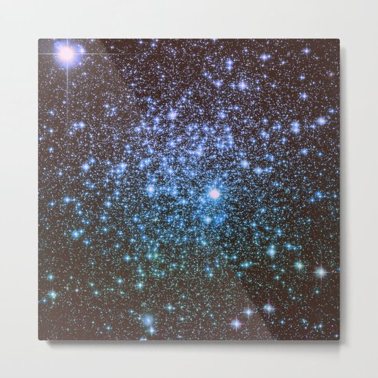 Winter Blues Galaxy Stars Metal Print