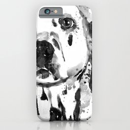 Black And White Half Faced Dalmatian Dog iPhone Case