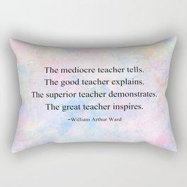 The Great Teacher Rectangular Pillow