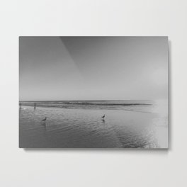 HALF MOON BAY (B+W) Metal Print