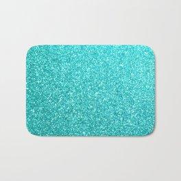 Aqua Blue Glitter Bath Mat