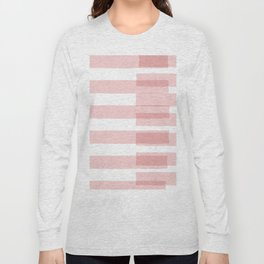 Big Stripes in Pink Long Sleeve T-shirt