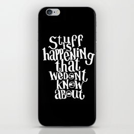Conspiracy Theorist iPhone Skin