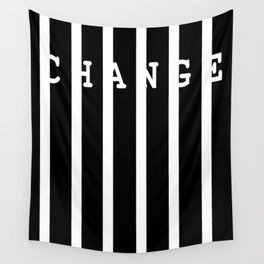 Change on white vertical bars - Vector Wall Tapestry