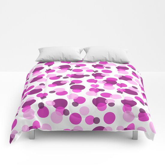 Pink and Purple Spots Comforters