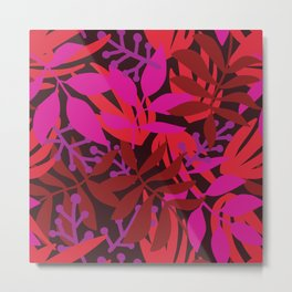 Warm Tropical Botanicals Metal Print