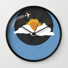 Sunburst Records Wall Clock
