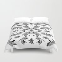 bees Duvet Covers featuring Bees by Lauren Spooner