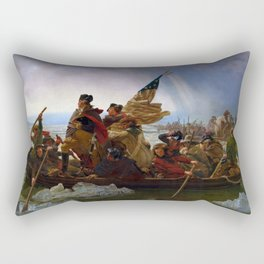 Washington Crossing the Delaware by Emanuel Leutze (1851) Rectangular Pillow