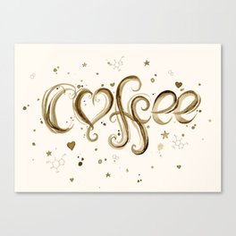 Coffee Molecules Caffeine Canvas Print