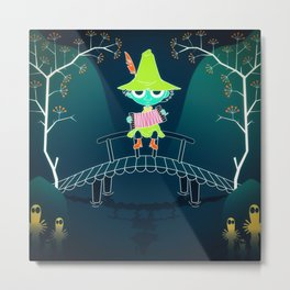 Snufkin, the moomins Metal Print
