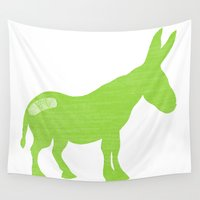 donkey Wall Tapestries featuring Pain in the Donkey by Rudi Rodebush