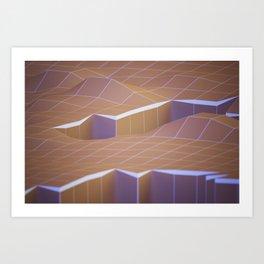 polygons rift Art Print