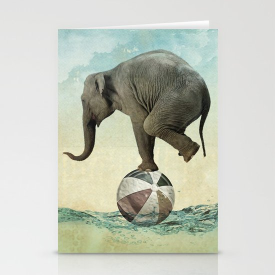 Elephant at Sea Stationery Cards