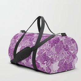 Purple Petals Duffle Bag