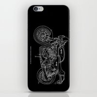 cafe racer iPhone & iPod Skins featuring NORTON COMMANDO 961 CAFE RACER. 2011 by Larsson Stevensem