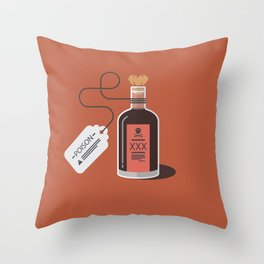 A little nip won't hurt you ! - Love is poison !  Throw Pillow