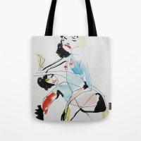 women Tote Bags featuring Women by Beste Taş