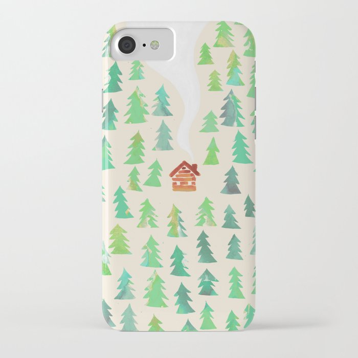 alone in the woods iphone case