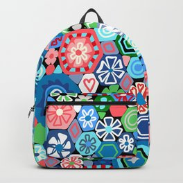 Millefiori Blue and Red Backpack