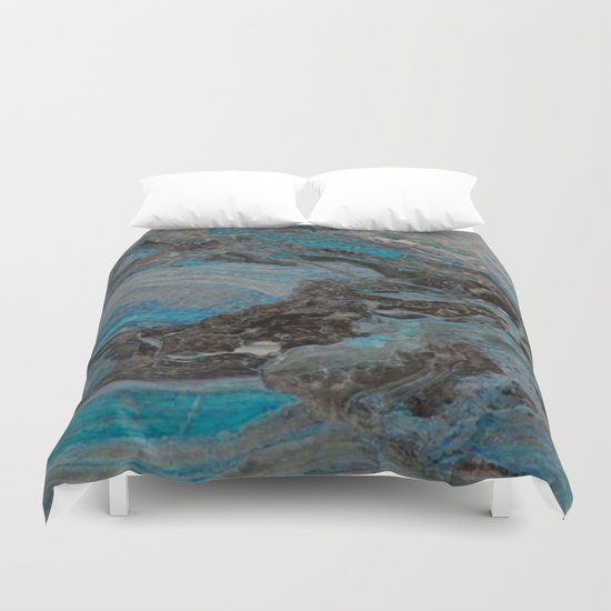 Marble, it is cool, aloof and especially elegant Duvet Cover