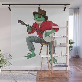 Banjo Playing Frog Wall Mural