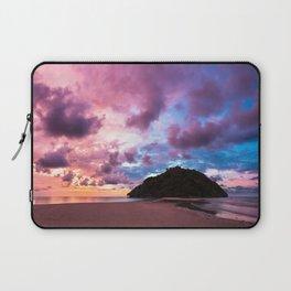 Beautiful beach landscape sunset Laptop Sleeve