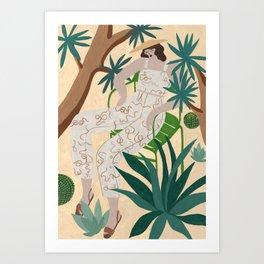 Paloma Wool Snake outfit Art Print