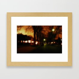 Serene Suburban Framed Art Print